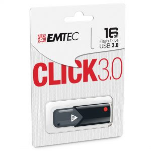 Backup, save, or share files even when you're on-the-go with the Emtec Click B100 16GB USB 3.0 Flash Drive. Compatible with USB 3.0 ports